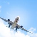 福岡空港着陸態勢の飛行機