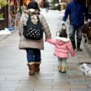 親子の散歩