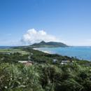 玉置崎展望台から平久保を眺めた景色