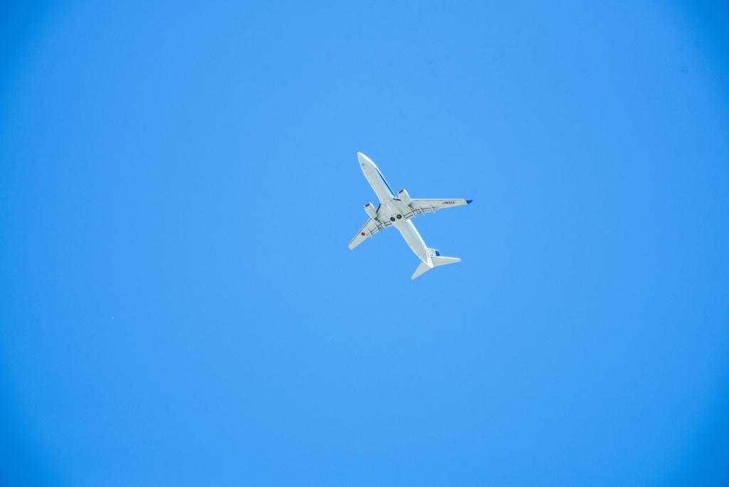 白保からみた飛行機