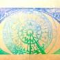 ケシゴムハンコアート NO5 題「宇宙の目」