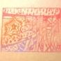 ケシゴムハンコアート NO2 題「カオスからコスモスへ」川崎じゆう