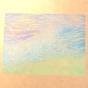 ケシゴムハンコアート NO8 題「人の波」